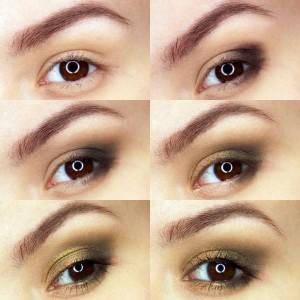 Makijaż ze złotymi refleksami