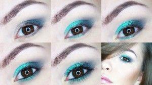 Makijaż turkusowy
