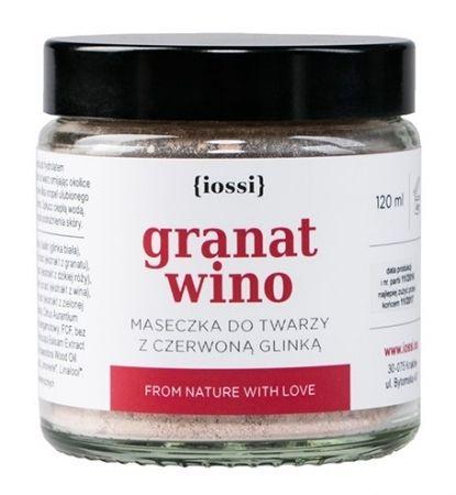 Maseczka do twarzy z czerwoną glinką Granat & Wino 120ml