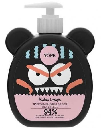 Naturalne mydło do rąk dla dzieci Kokos i Mięta 400ml