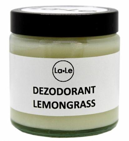 Dezodorant ekologiczny w kremie z olejkiem z trawy cytrynowej (szkło) 120ml