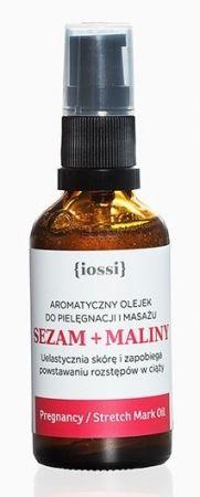 Olejek przeciw rozstępom do pielęgnacji i masażu - Sezam & Maliny 50ml
