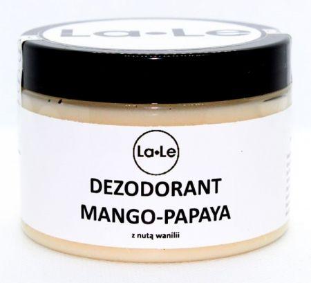 Dezodorant ekologiczny w kremie Mango - Papaya z nutą wanilii (plastik) 150ml